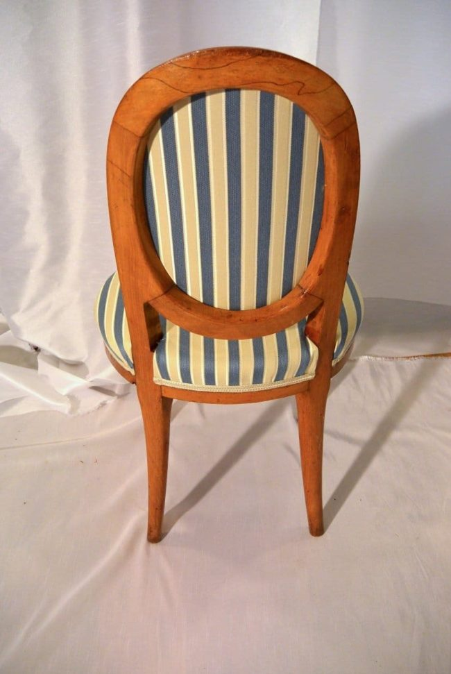 A pair of Art Deco chairs made in Paris - back side