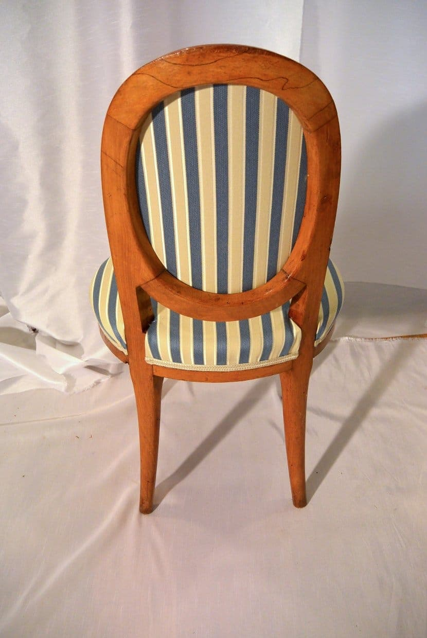 A Pair Of Art Deco Chairs Made In Paris   Back Side