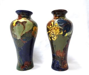A pair of Rozenburg Art Nouveau vases