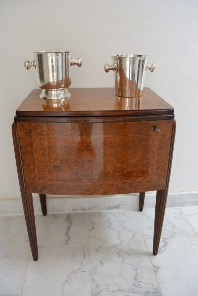 Art Deco Bar - Burr walnut