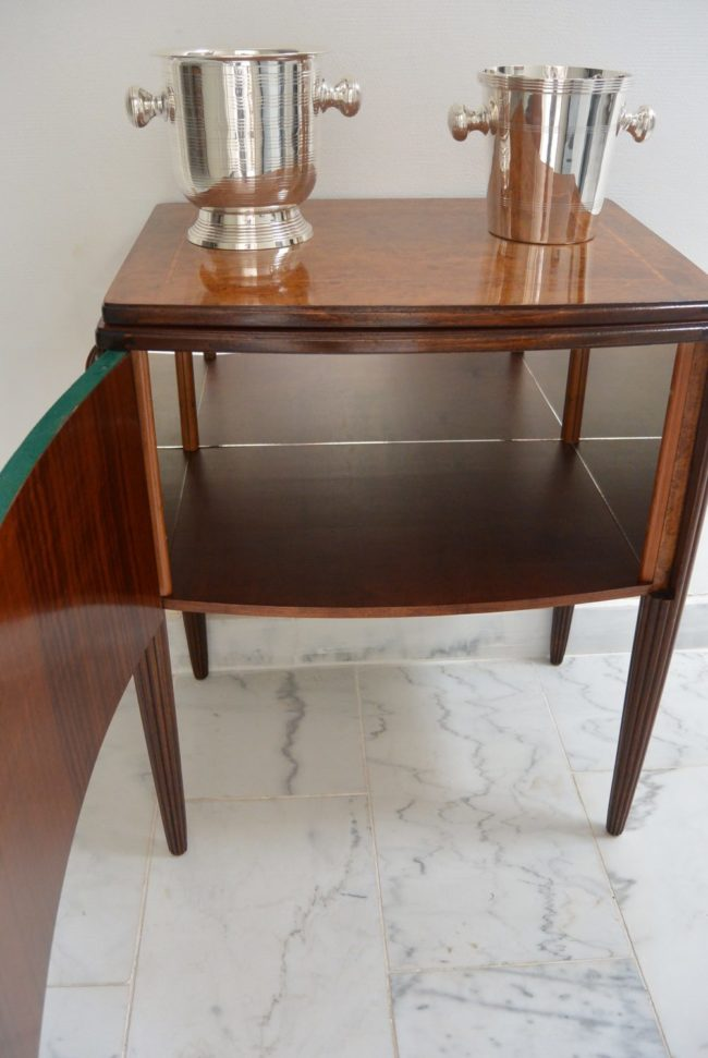 Art Deco Bar - Burr walnut - opened front