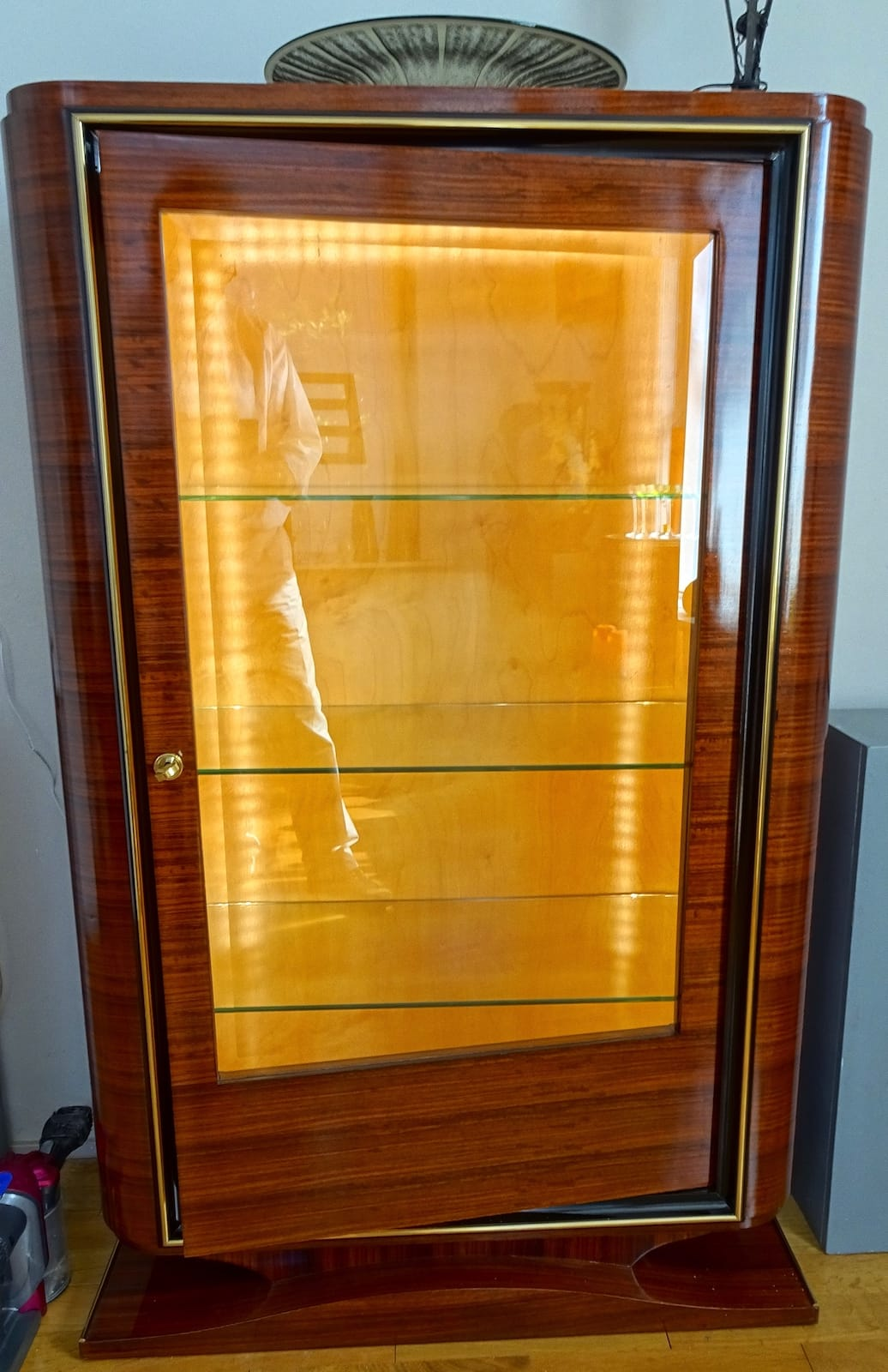 Art Deco showcase of rosewood