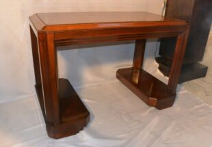 Art Deco side table - Mahogany/Walnut
