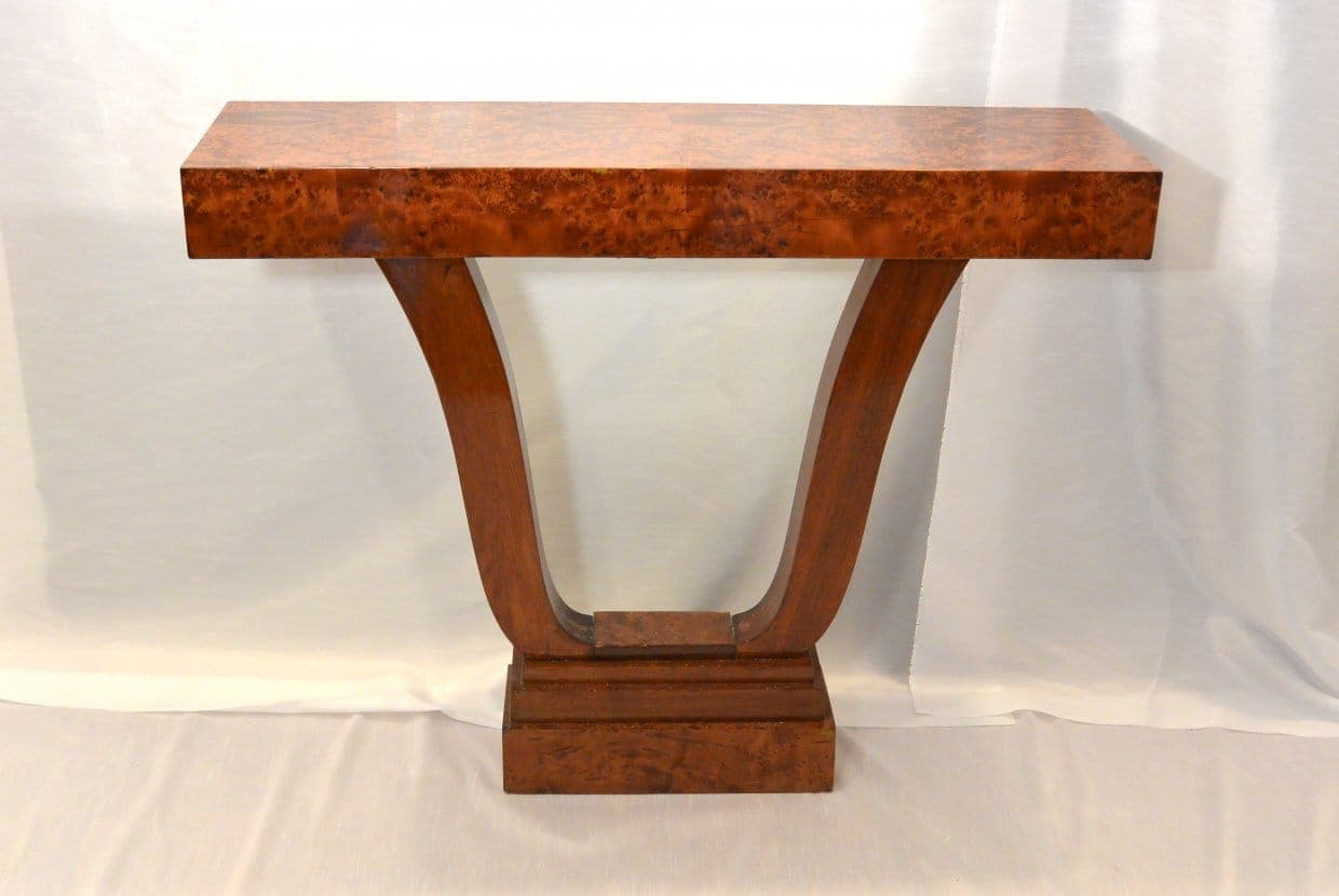 Art Deco side table with lyra foot