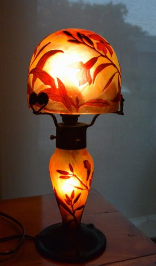 Daum Nancy - Table lamp Oleander