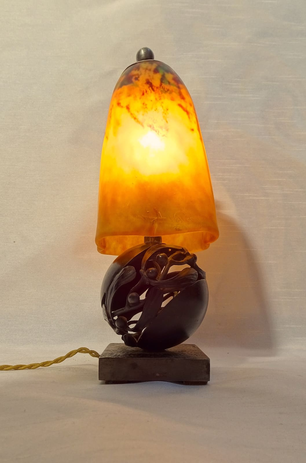 Edgar Brandt / Daum Nancy - Table Lamp Art Nouveau