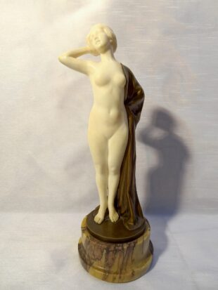 Emil Rizec - Marble and bronze figure