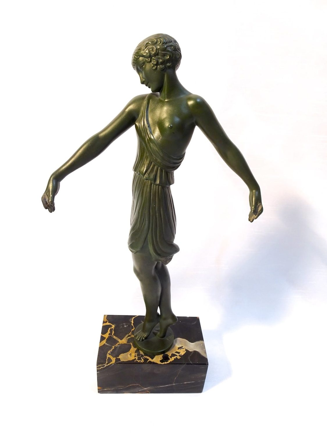 Fayral (Pierre le Faguays) Max le Verrier - Bronze figure of a dancing lady