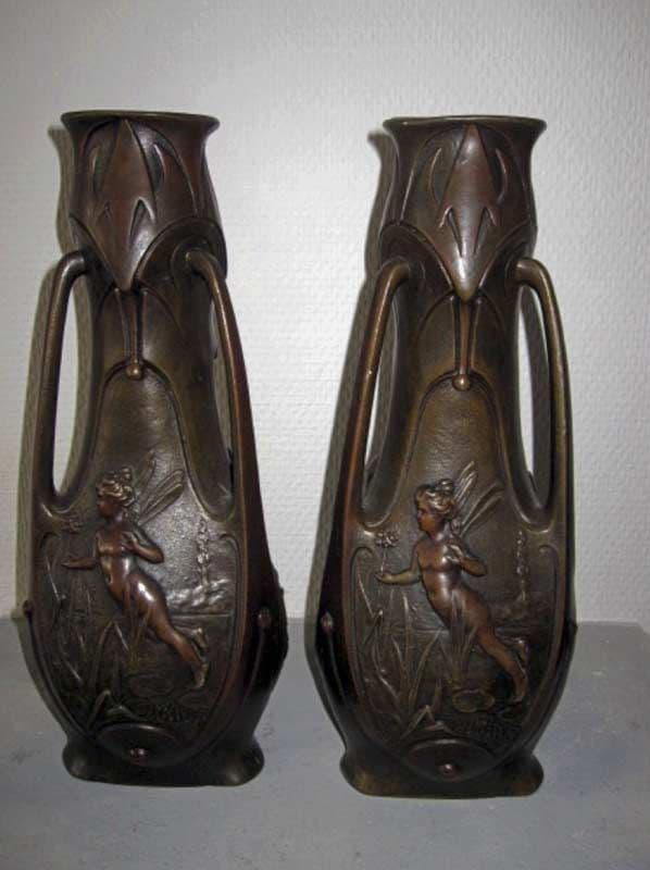 J. Garnier – Two Art Nouveau vases