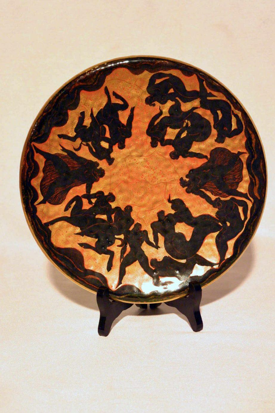 Jean Maydon (1893-1967) Severs – Plate with figures
