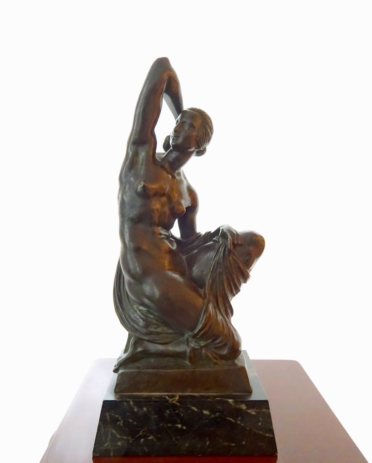 Joseph Cormier / Joe Descomps – Bronze statue on a marble socle