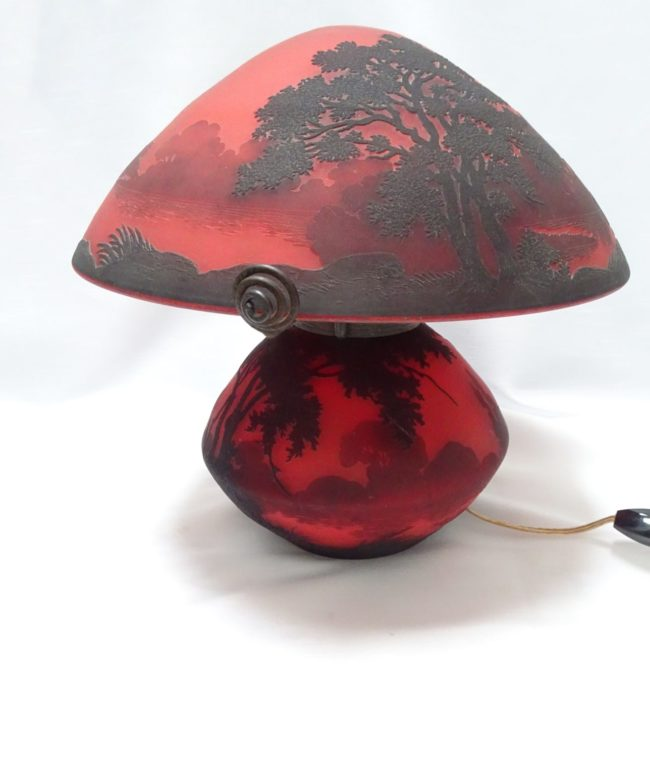 Muller Frères - Table lamp with Lorraine landscape - 2