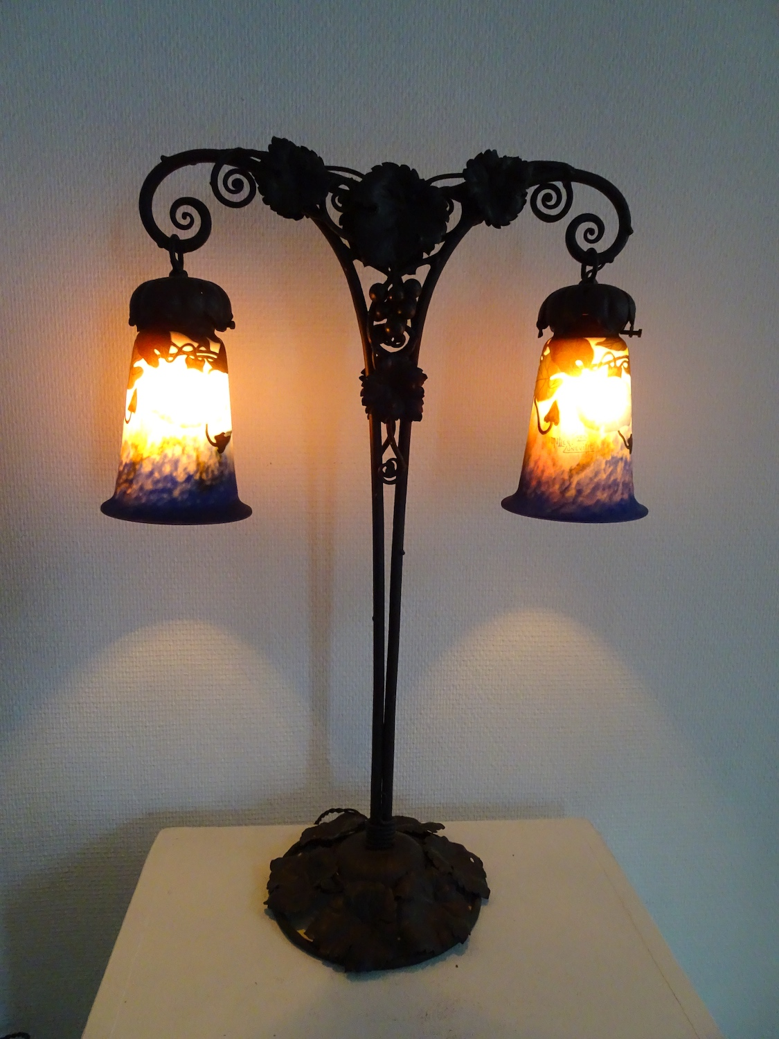 Muller Frères table lamp ±1910