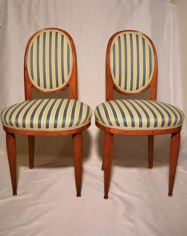 "Paul Follot - Two Art Deco 'boudoir"" chairs"