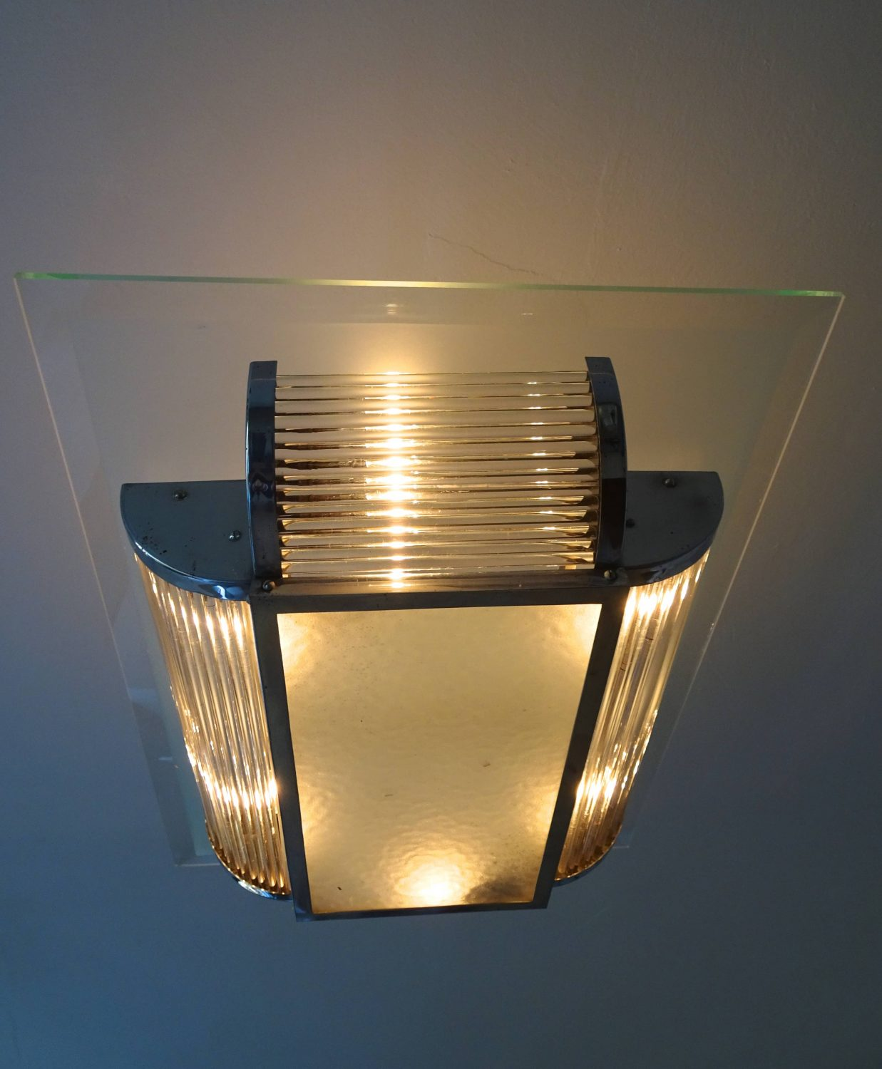 Rene Pottier – Art Deco ceiling lamp
