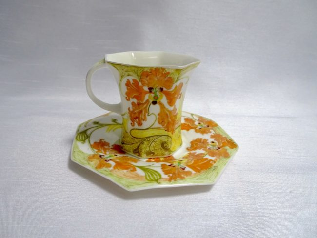 Rozenburg - Eggshell porcelain cup and saucer