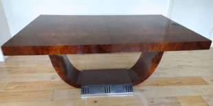 SADDIER ET FILS PARIS - An art deco conference or dining table (1)