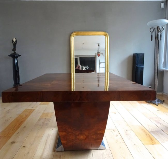 SADDIER ET FILS PARIS - An art deco conference or dining table (2)